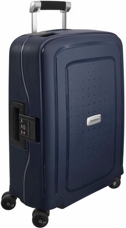 Kabinväska Samsonite S'CURE DLX med 4 hjul 55 cm, Midnight blue