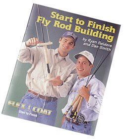Bok om flugfiske. På Engelska. 52 sidor. Start to Finish Fly Rod Building Book, av Ryam Seiders och Dan Smith