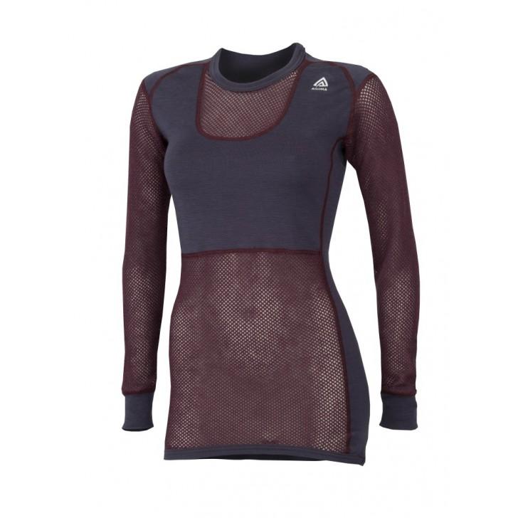 Aclima underställ Woolnet Shirt Crew Neck, stl M, Dam Lila