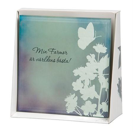 Spegeltavla, Silver Silhouette - Min Farmor är världens bästa!