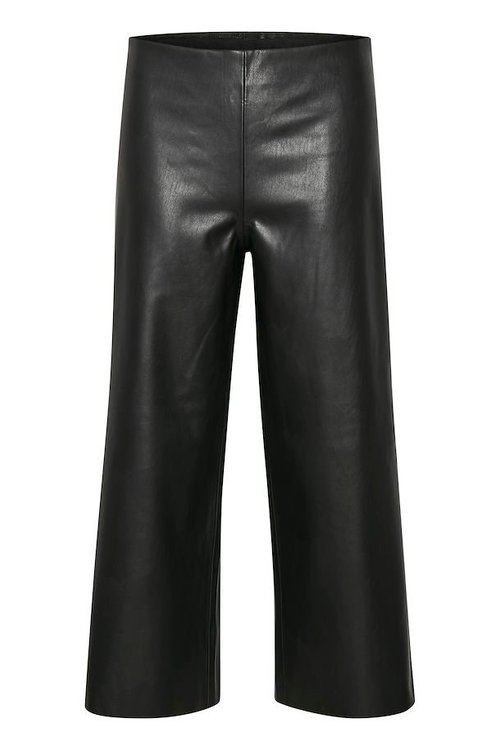 SAINT TROPEZ - Casual Leather Pants