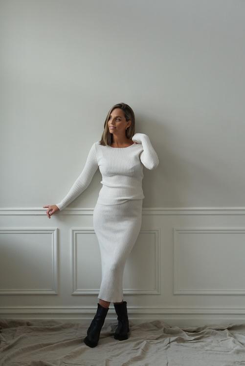 MA CHÉRIE - Ambra Knitted Set Offwhite