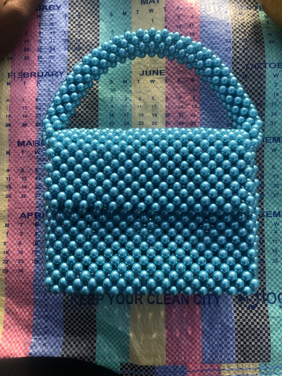 Bead Bag Light Blue