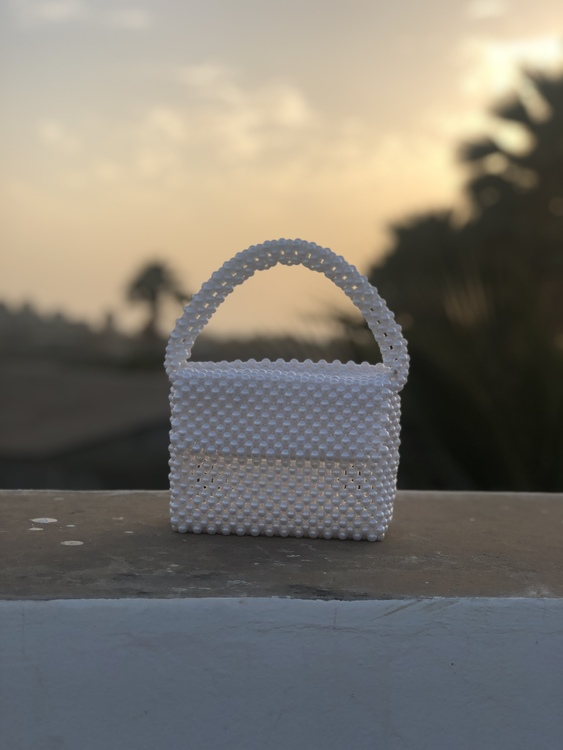 Bead Bag White