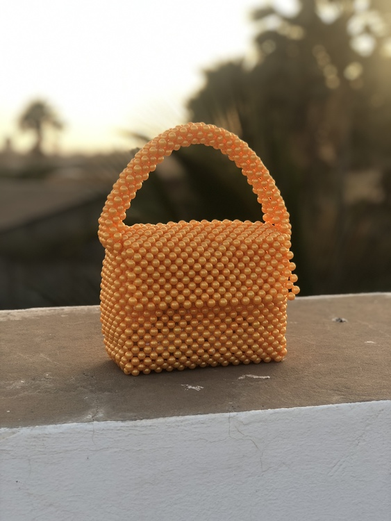 Bead Bag Orange