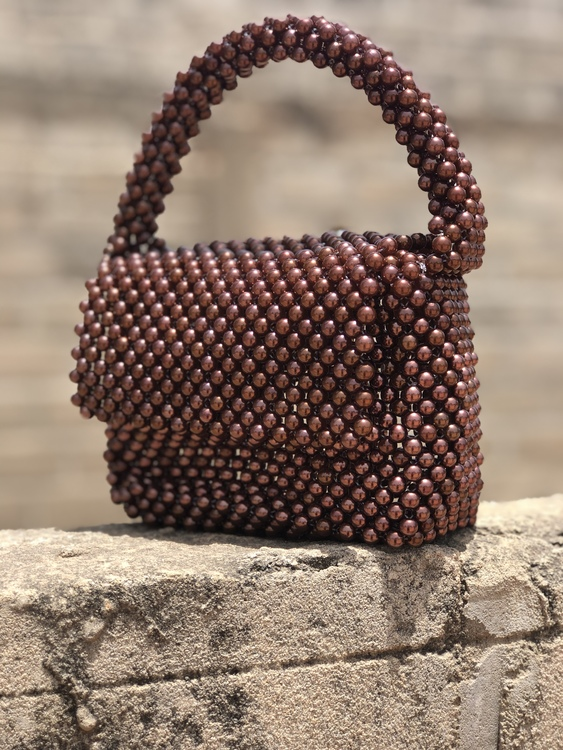 Bead Bag Brown