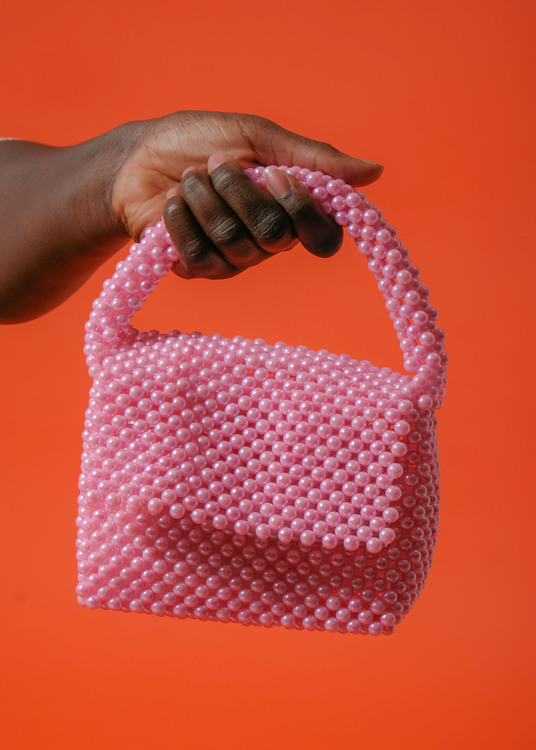 Bead Bag Pink