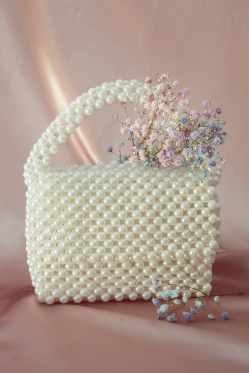 Bead Bag White