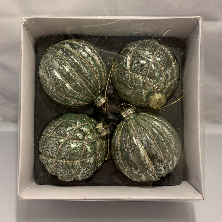 Glittriga kulor i grönt  4pack