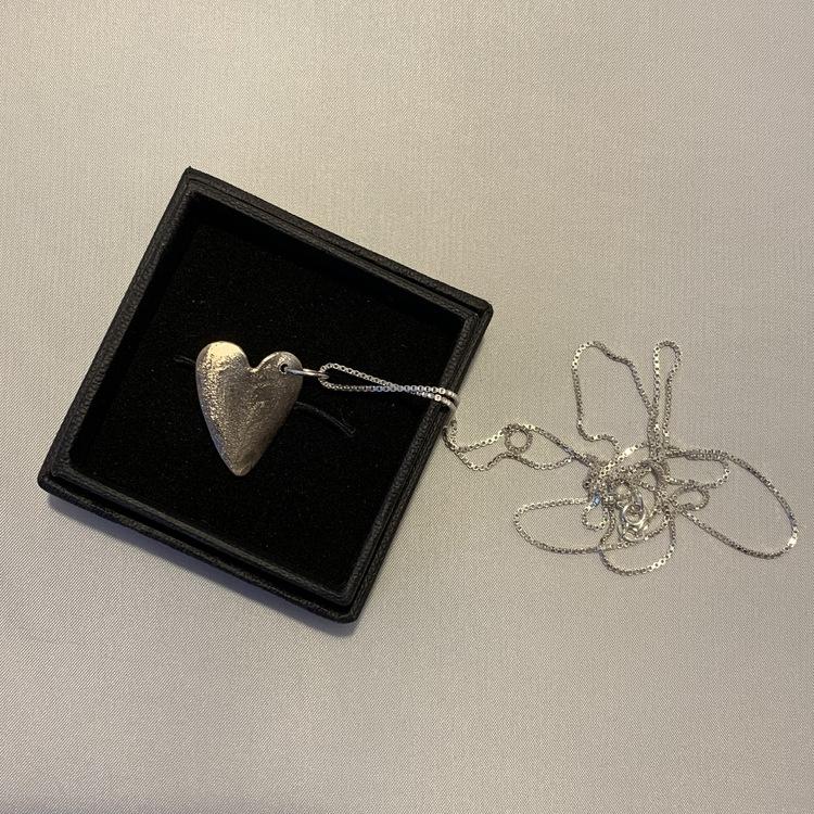 Silverhjärta med venziakedja 70 cm