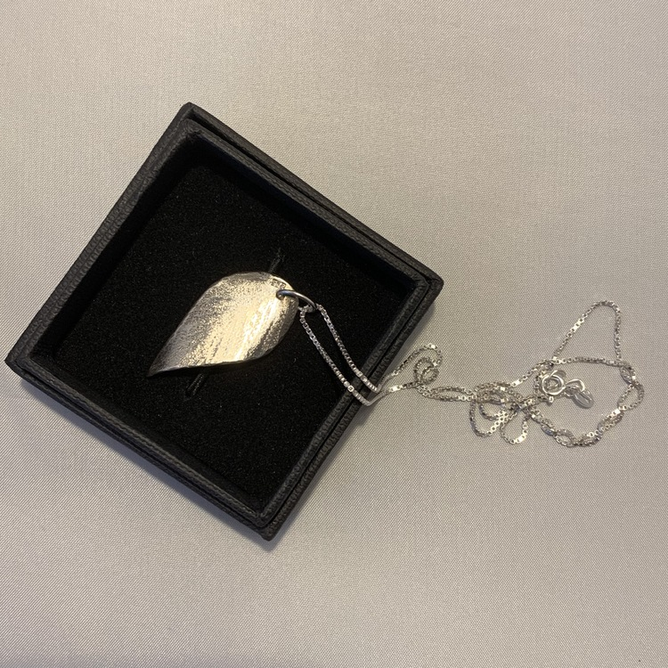 Silverblad med veneziakedja 40cm