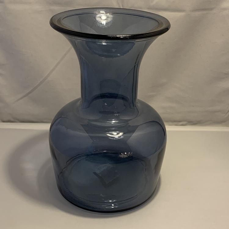 Blå glasvas