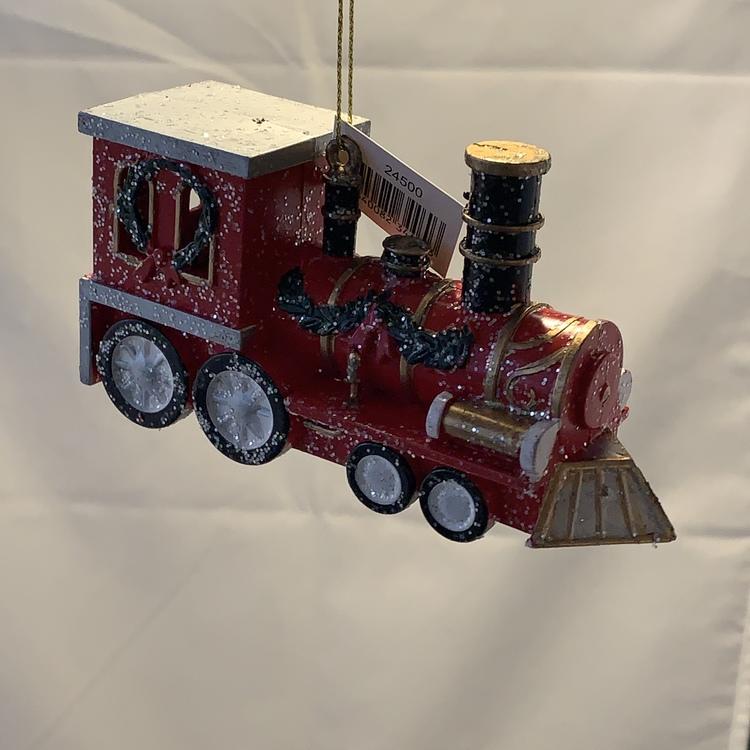 Glittrigt tåg julgransdekoration