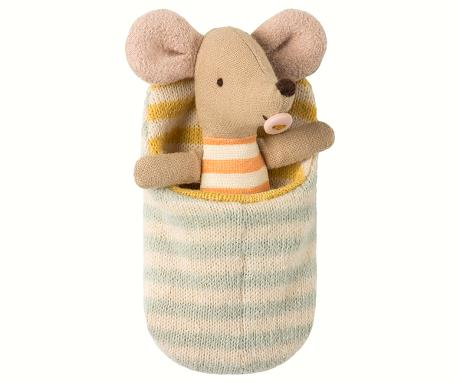 Maileg Baby mouse in sleeping bag