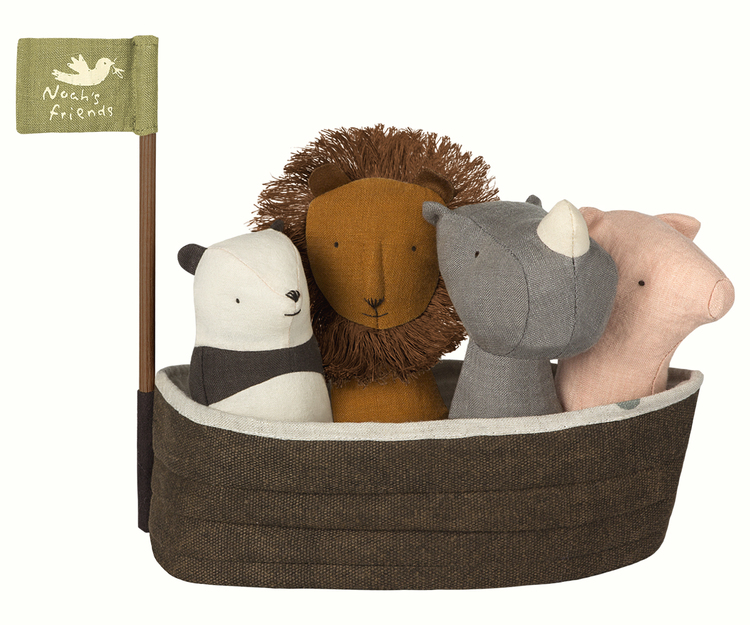 Maileg Noah`s Ark with 4 rattles