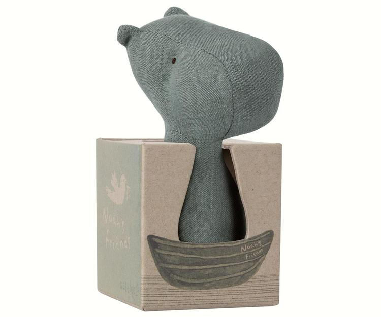 Maileg Noah's Friends, Hippo Rattle