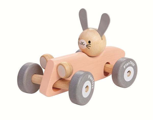 Plantoys Bunny Racing Car-Pastell