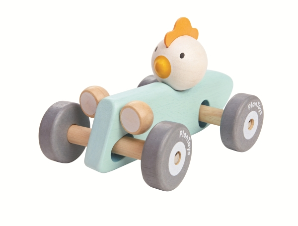 Plantoys Chicken Racing Car-Pastell