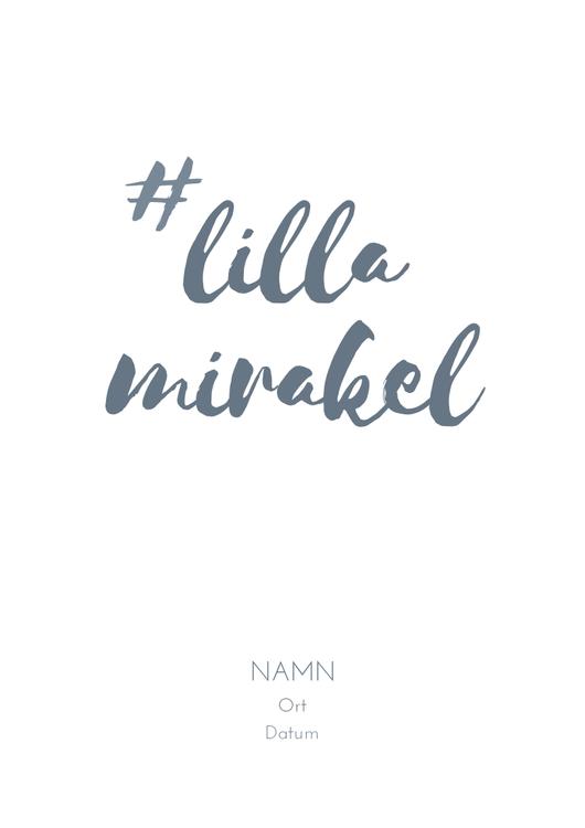 Poster Lilla mirakel A4