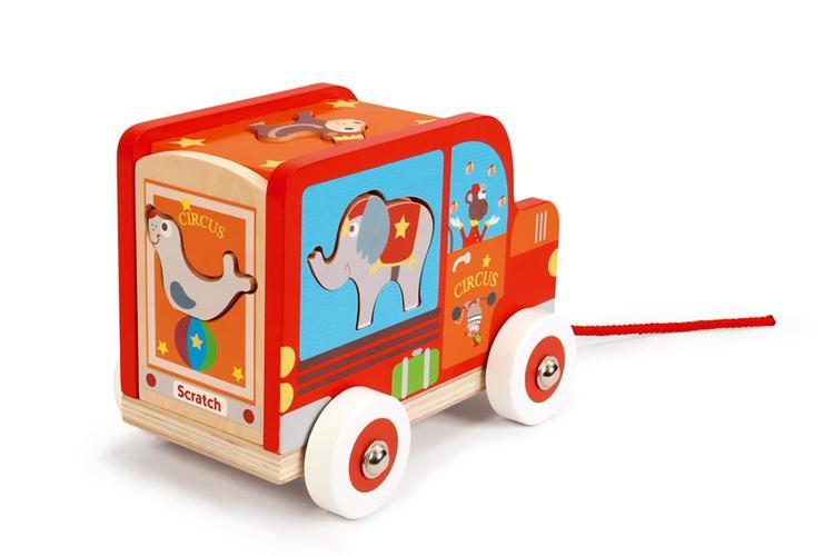 Scratch Sorterings- Cirkusvagn med djur
