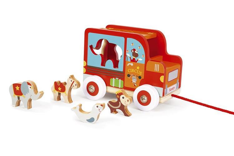 Sorterings- Cirkusvagn med djur