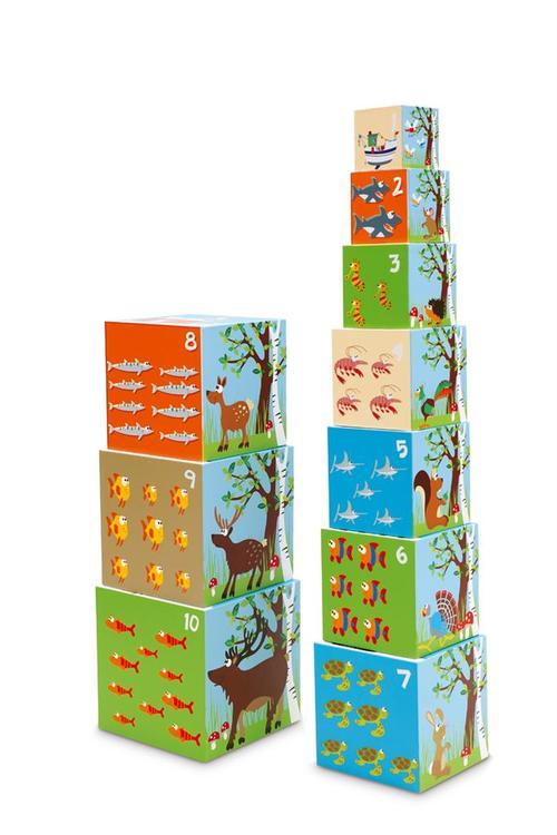 Scratch Stapeltorn med världens djur