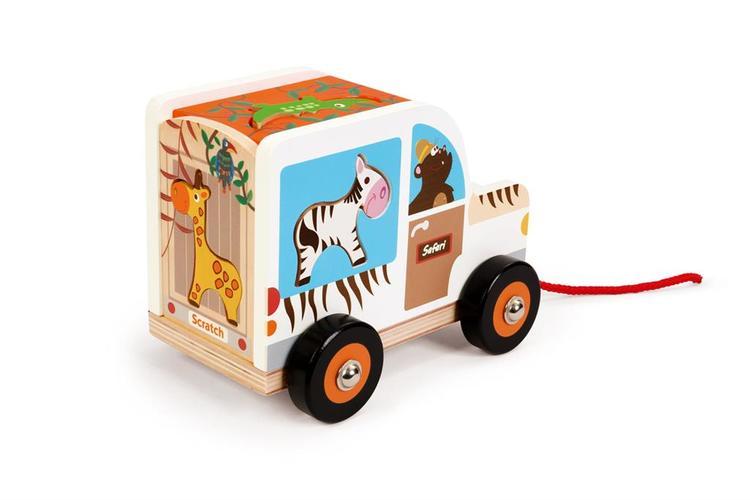 Sorterings- Djungelbil med djur