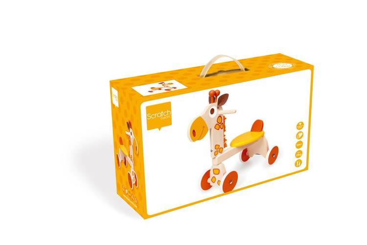 Scratch Fyrhjuling giraff