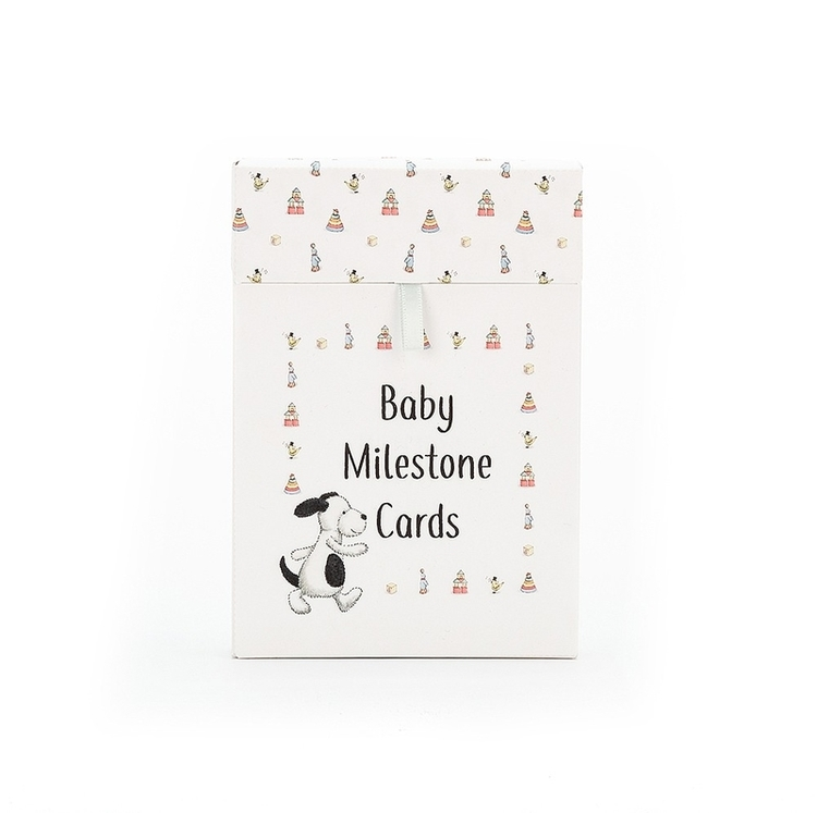Jellycat Bashful Puppy Milestone Cards