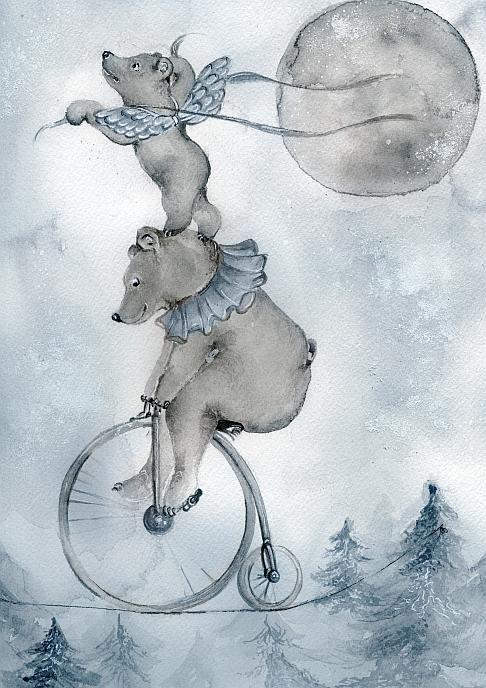 Akvarelltryck av Sara Hallberg - Magi i Luften A4