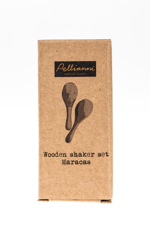 Roommate Wooden Shaker Nature/white Maracas