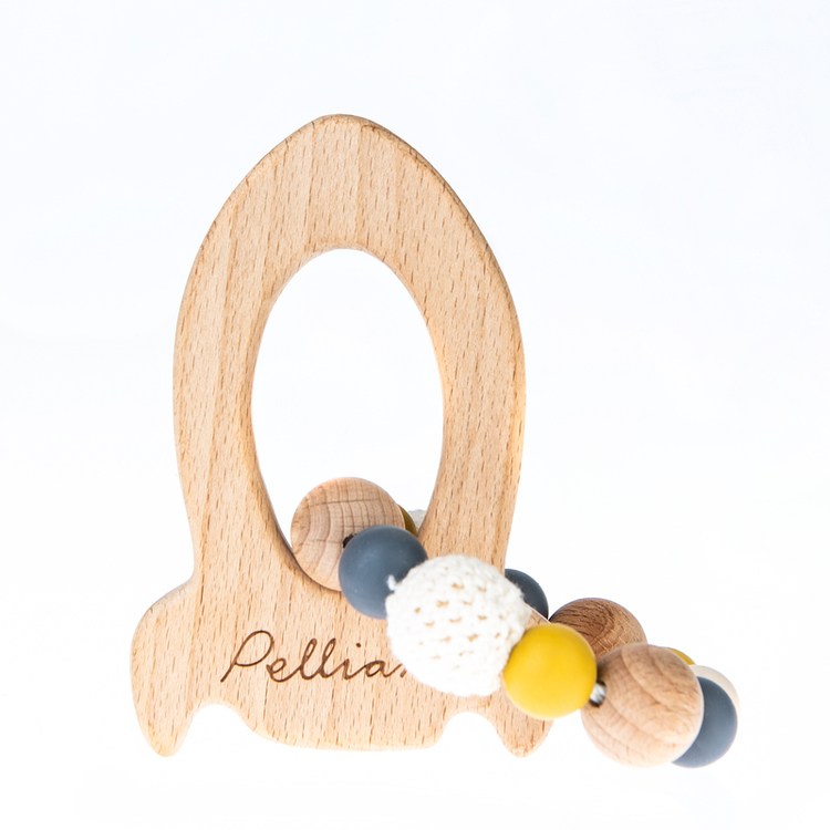Pellianni Rocket teether, mustard