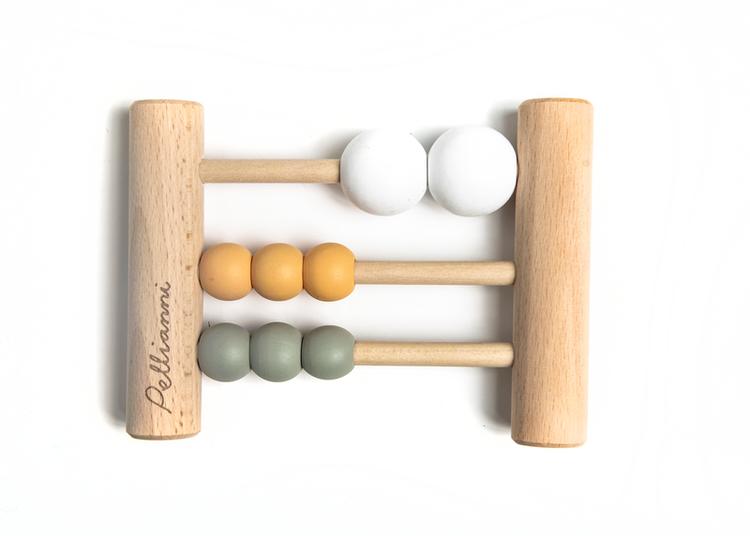 Pellianni Wooden Abacus Mustard Kulram