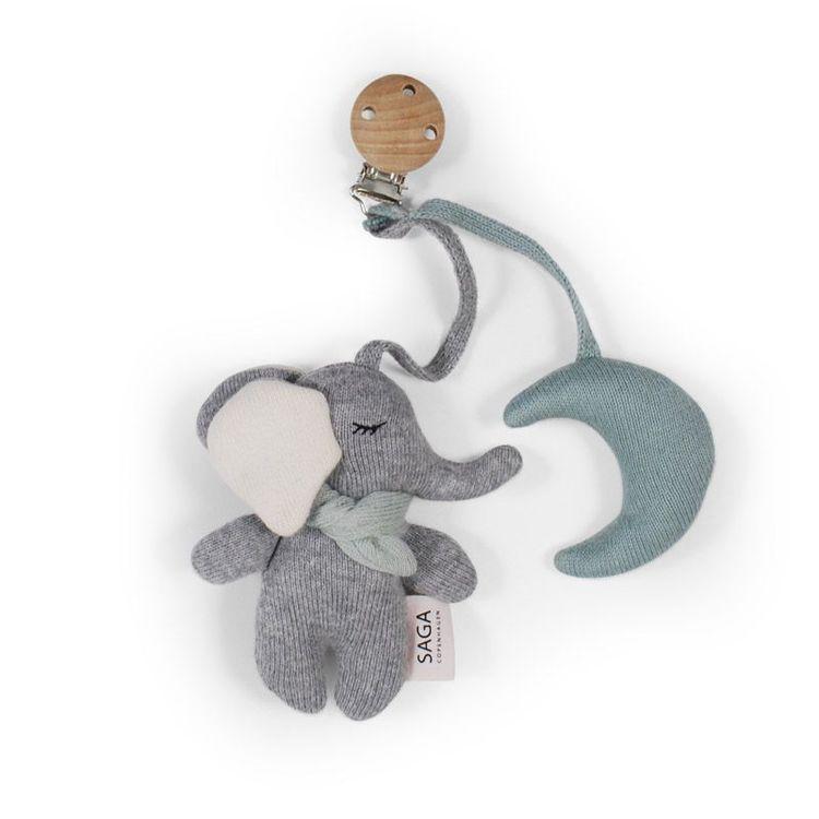 Saga Copenhagen Vagnhänge Elefant grön