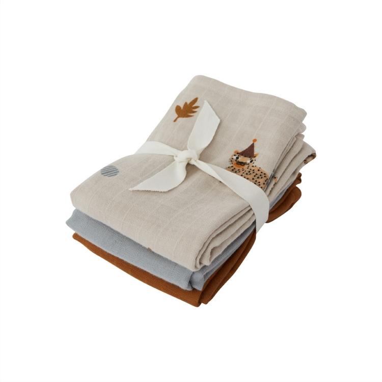OYOY Living Design Muslinfilt 3-pack Leopard