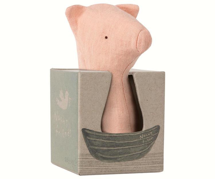 Maileg Noah's Friends, Pig Rattle