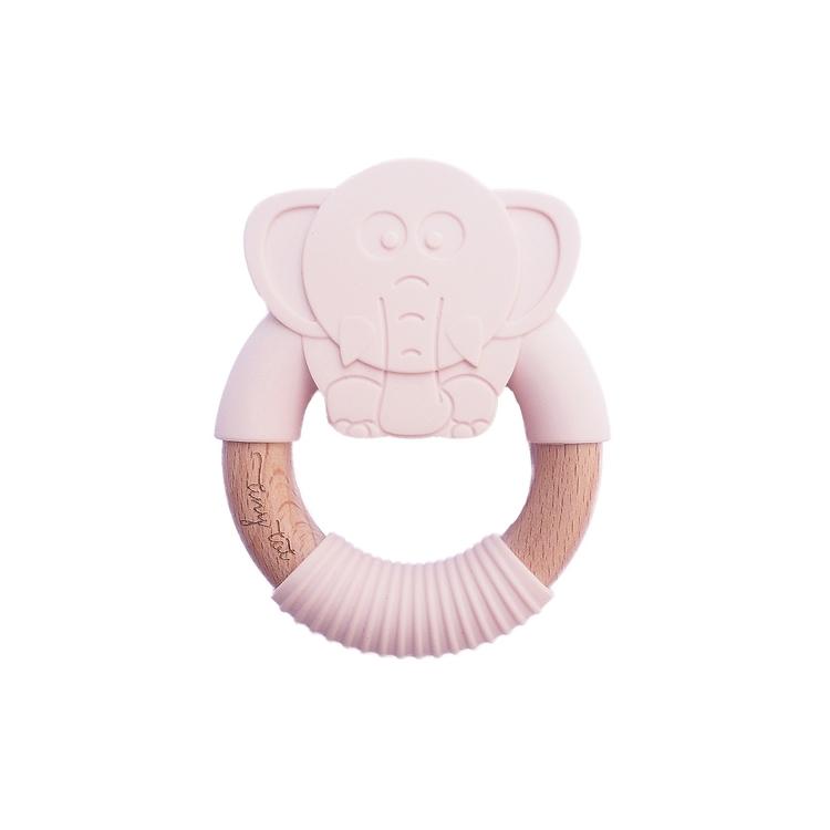 Tiny Tot Bitring Elefant Rosa