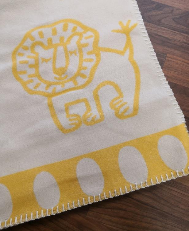 Klippan Yllefabrik Bomullsfilt Lion