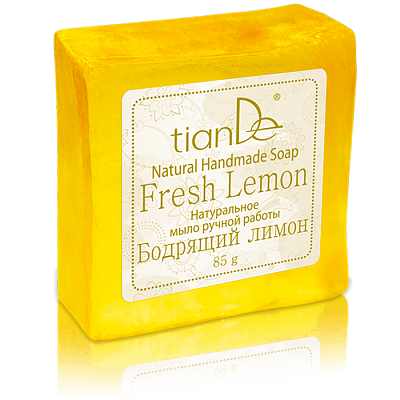 Naturell, handgjord tvål  - Fresh Lemon - 85g