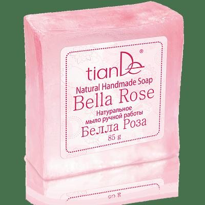 Naturell, handgjord tvål - Bella Rose - 85g