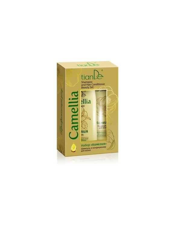 Camellia-schampo och hårbalsam Skönhetssats 220g och 100g