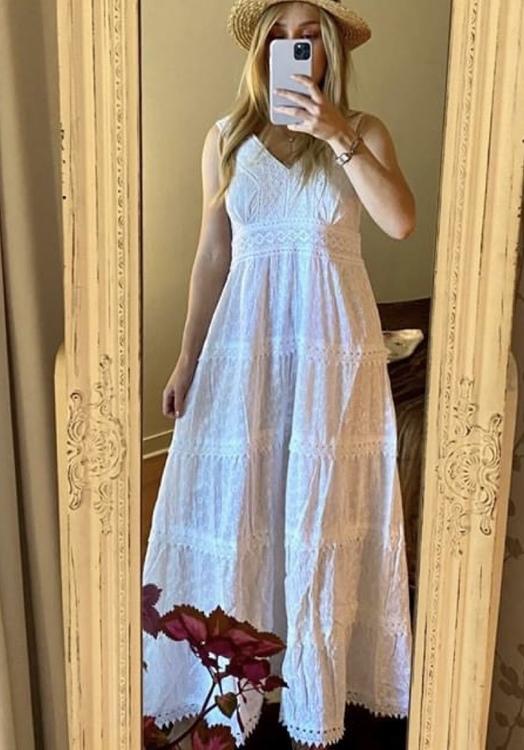 Lång klänning ljusblå
