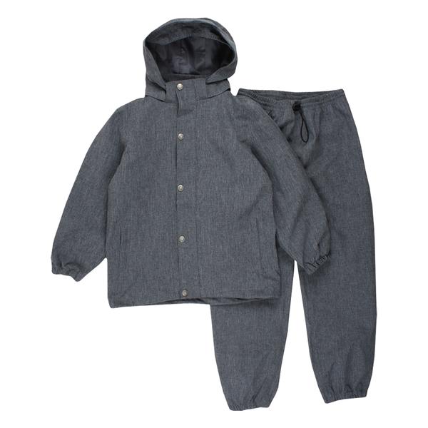 EN FANT regnkläder med avtagbar huva. Grå/Grey