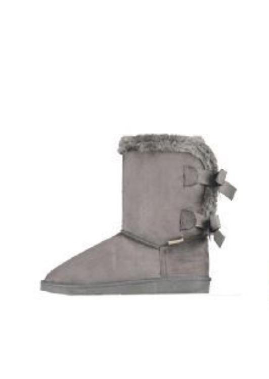boots grå med rosett