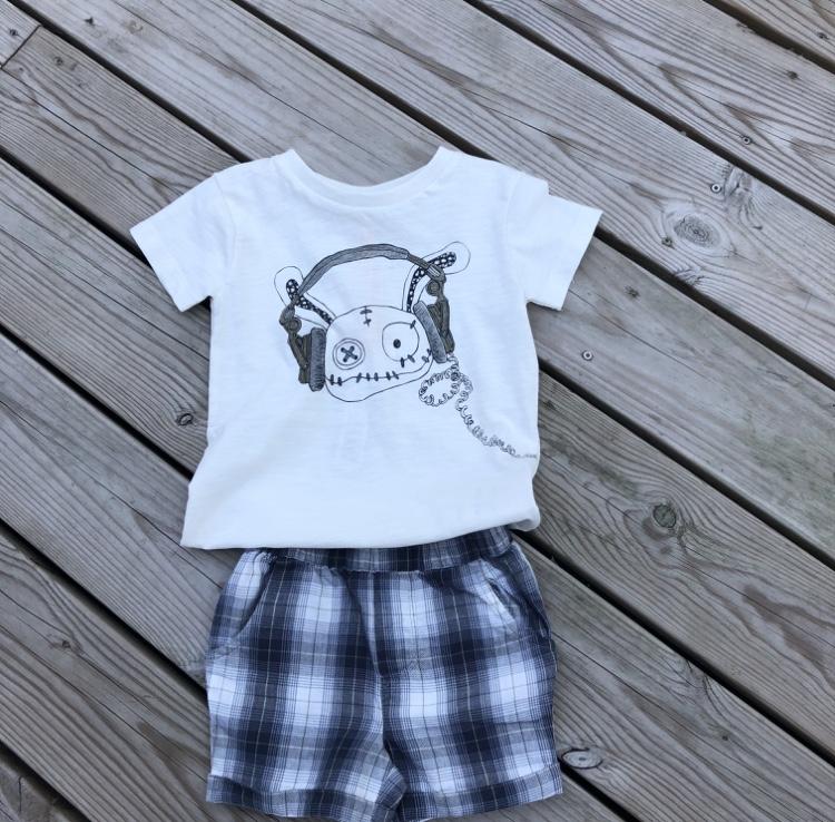 T-shirt  lurar vit