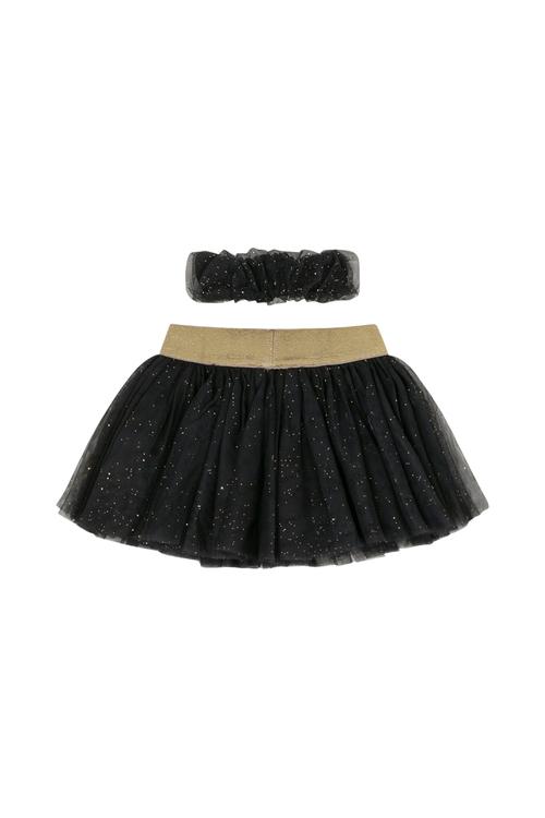 Nille kjol Blå glittrig med tillhörande hårband