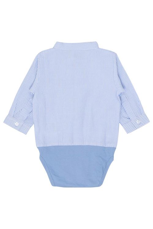 Bertil skjort body blå randig