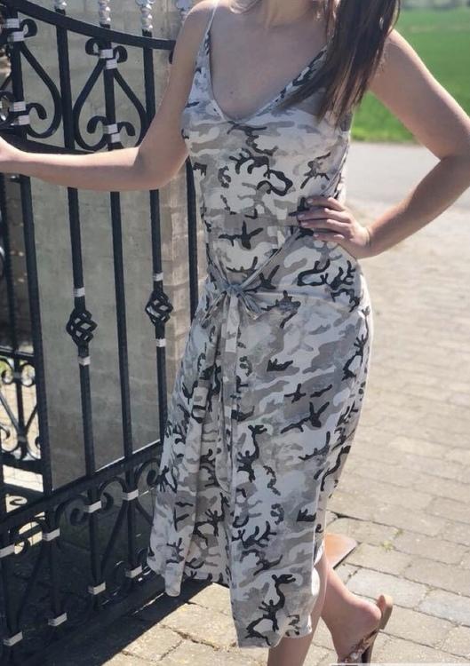 Camoflage klänning
