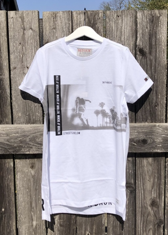 T-Shirt Kik vit