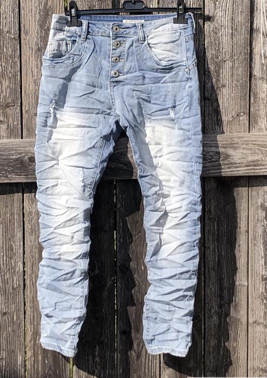 Place du jour Jeans ljusblå med slitning